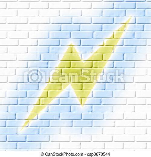 illuminazione, brickwall - csp0670544