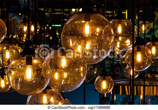illuminazione, decorazione - csp17489888