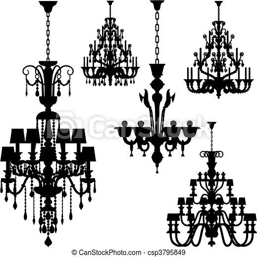 illuminazione, lusso, (vector) - csp3795849