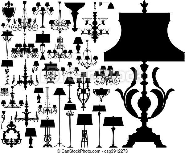 illuminazione, lusso, (vector) - csp3912273