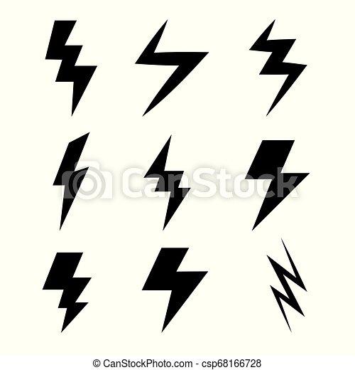 illuminazione spranga, icone - csp68166728