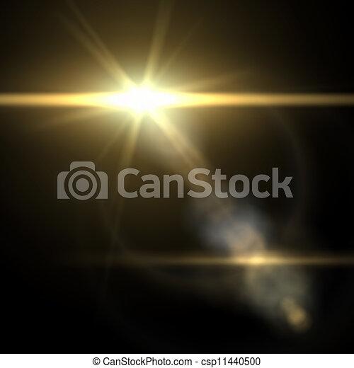 illustration., effect., luce, vettore, bagliore, speciale - csp11440500