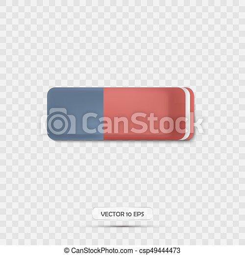 illustration., realistic., vettore, gomma, icon., 3d, icona - csp49444473