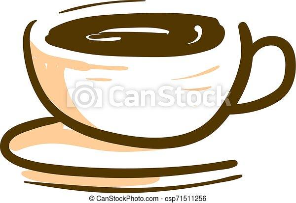Illustration Tazza Colorare Caffe Vettore O Tazza Caffe Illustration Colorare Disegno Caldo Vettore O Canstock
