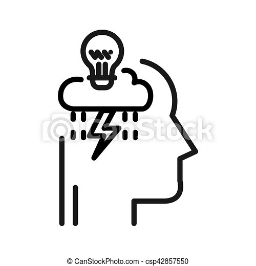 illustrazione, disegno, pensare, critico - csp42857550