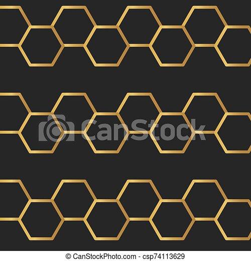illustrazione, dorato, lusso, background-, vettore - csp74113629