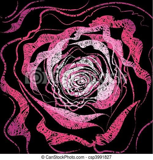 illustrazione, grunge, rosa - csp3991827