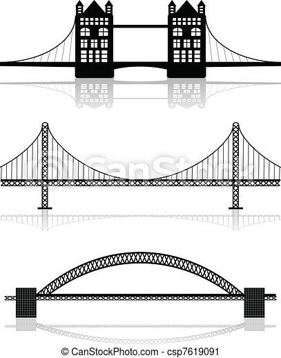 illustrazioni, ponte - csp7619091