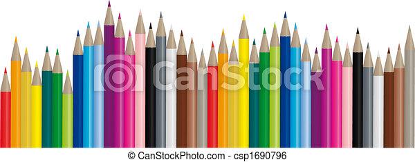 immagine, colorare, matite, -, vettore - csp1690796