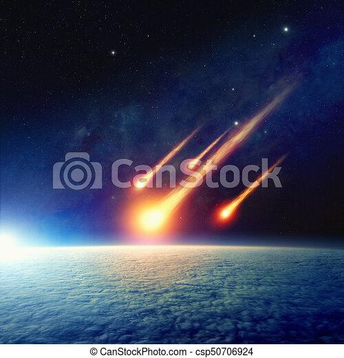 impatto, giudizio, mondo, asteroide, fine, giorno - csp50706924