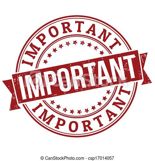 importante, francobollo - csp17014057
