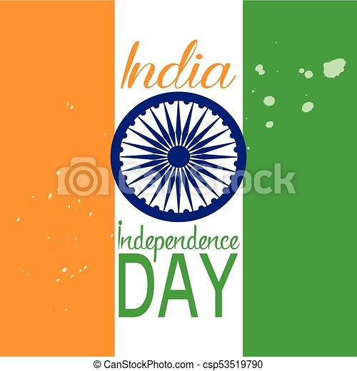 india, giorno, indipendenza - csp53519790