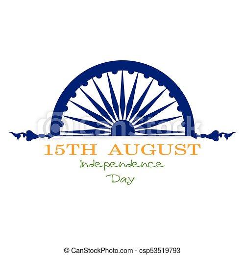india, giorno, indipendenza - csp53519793
