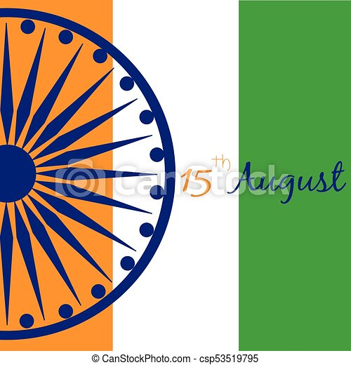 india, giorno, indipendenza - csp53519795