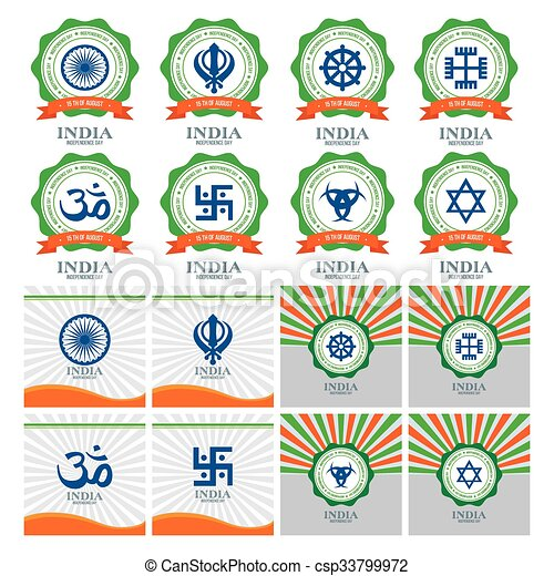 india, giorno, indipendenza - csp33799972