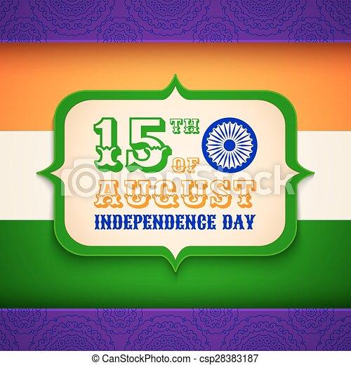 india, giorno, indipendenza - csp28383187
