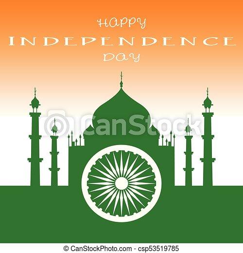india, giorno, indipendenza - csp53519785