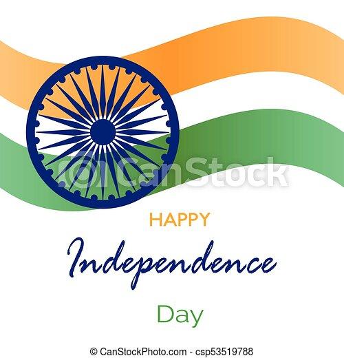 india, giorno, indipendenza - csp53519788