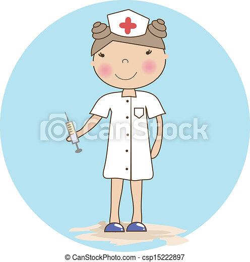 infermiera, giovane - csp15222897