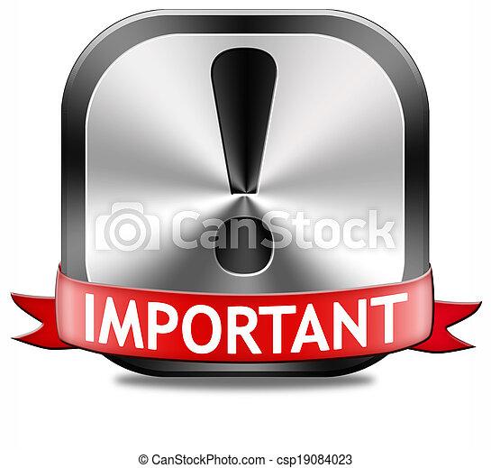 informazioni, importante - csp19084023
