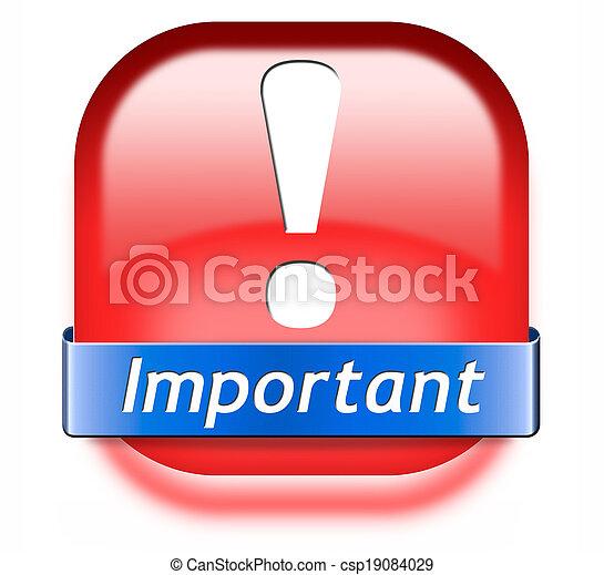 informazioni, importante - csp19084029
