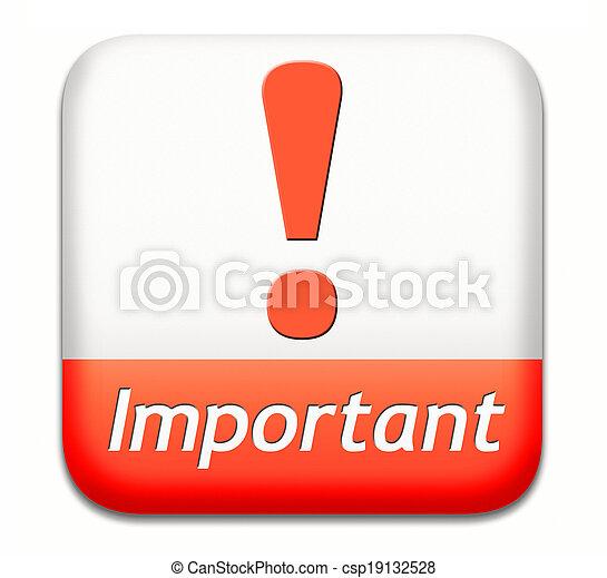 informazioni, importante - csp19132528