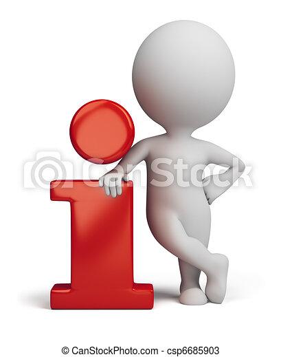 informazioni, persone, -, piccolo, icona, 3d - csp6685903