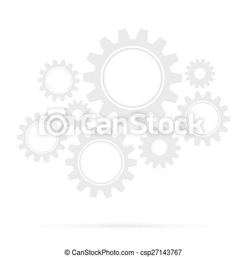 ingranaggio, ponte, retro, fondo, isolato - csp27143767