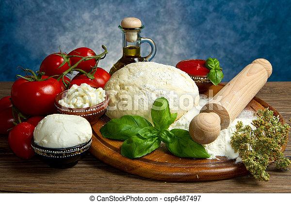 ingredienti, pizza - csp6487497