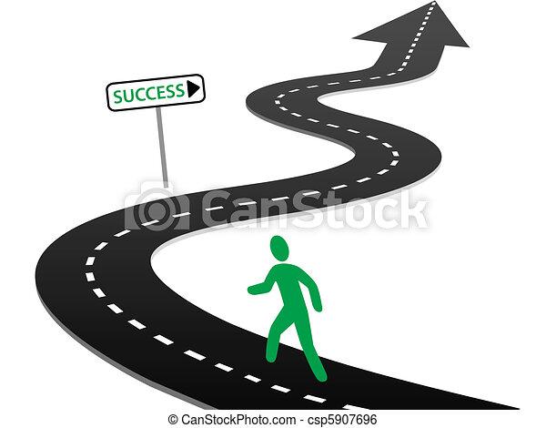 iniziare, successo, curve, viaggio, iniziativa, autostrada - csp5907696
