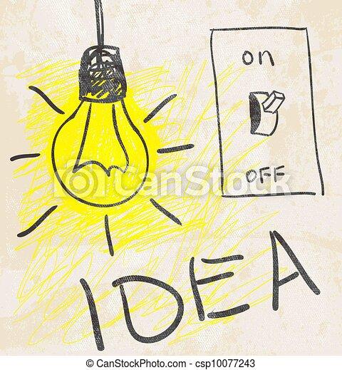 innovativo, lamp., concetto, idea - csp10077243