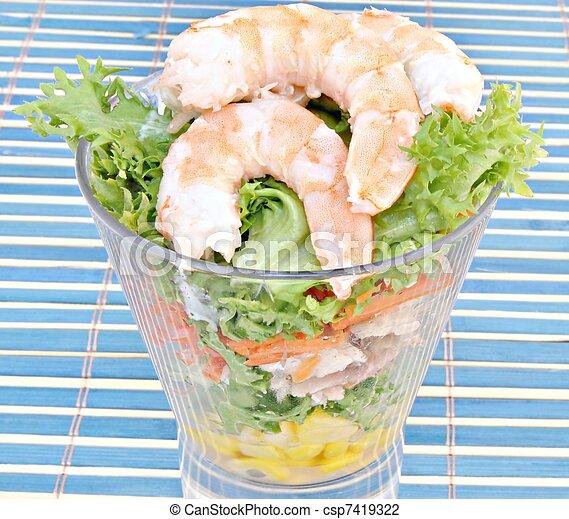 insalata, gamberetto - csp7419322