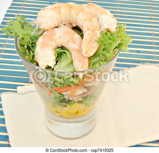 insalata, gamberetto - csp7419325
