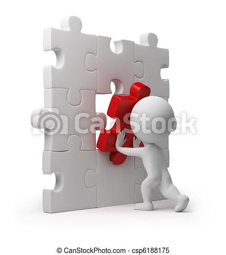 inserto, persone, puzzle, -, piccolo, 3d - csp6188175