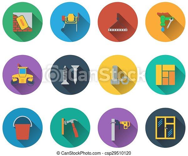 insieme costruzione, icone - csp29510120