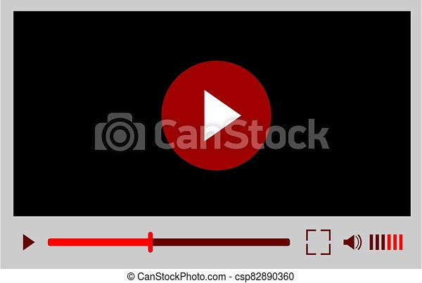 interfaccia, luogo, mobile, o, web, application., vettore, giocatore, video, illustrazione, disegno, bianco - csp82890360