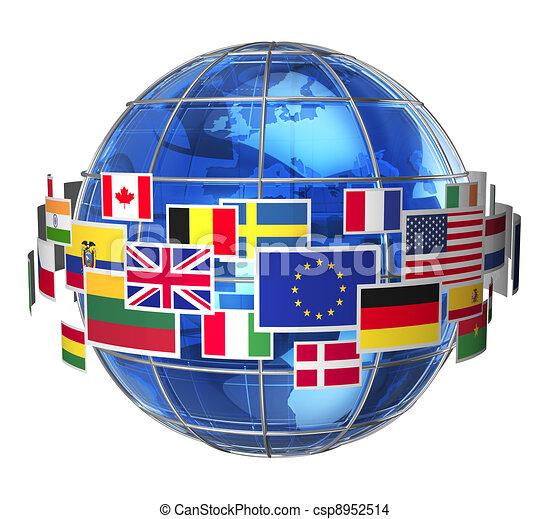 internazionale, concetto, comunicazione - csp8952514