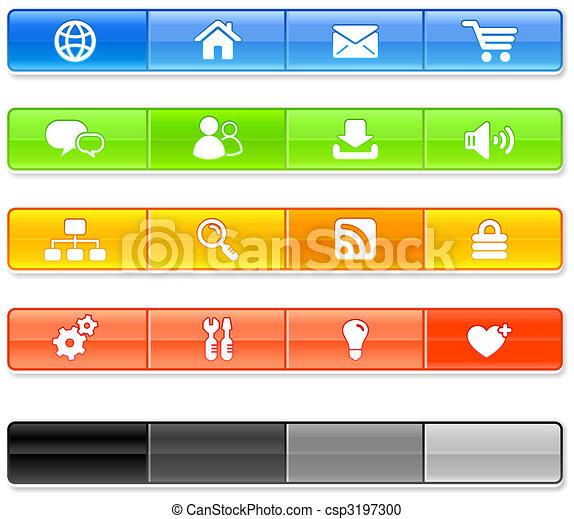 internet, sbarra, icone - csp3197300