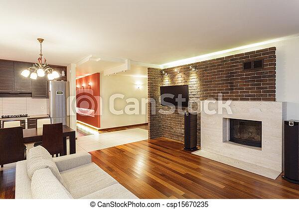 interno, appartamento, -, spazioso - csp15670235