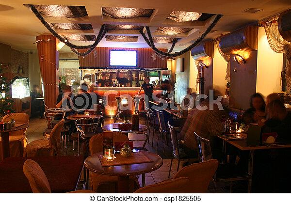interno, caffè, notte - csp1825505