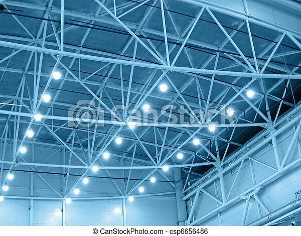 interno, magazzino, illuminazione, giallo - csp6656486