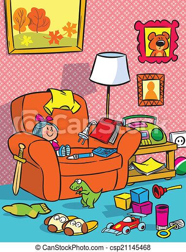 interno, vivaio, giocattoli - csp21145468