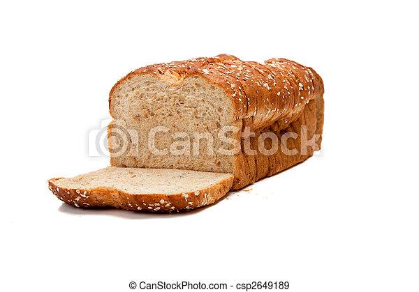 intero, pagnotta, grano, pane bianco - csp2649189