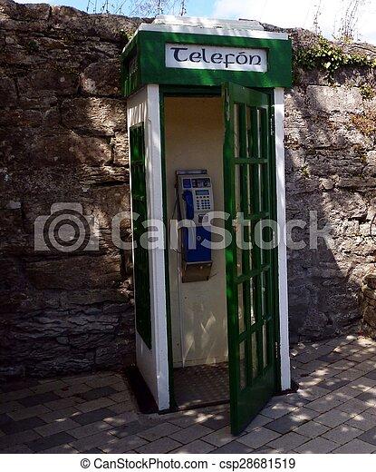 irlandese, telefono, originale, chiosco - csp28681519