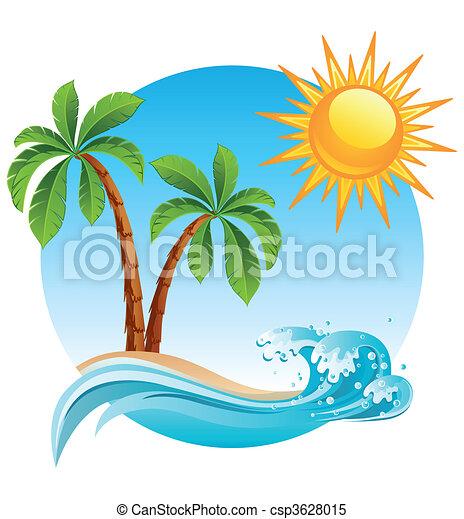 isola, tropicale - csp3628015
