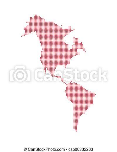 isolato, icona, americano, mappa, continente - csp80332283