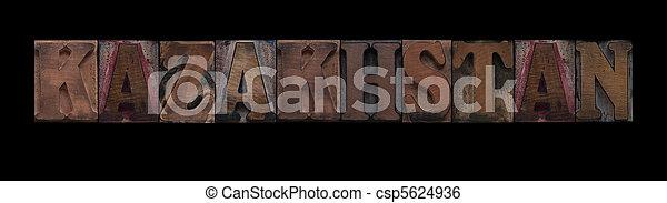 kazakhstan, tipo, legno, vecchio - csp5624936