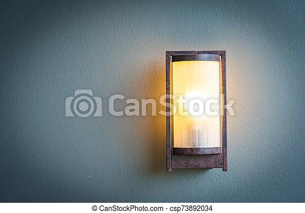lampada, parete, luce, decorazione - csp73892034