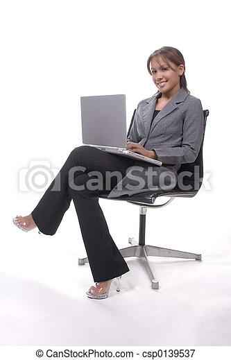 laptop, signora - csp0139537