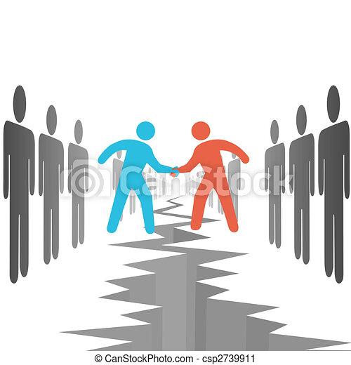 lati, sistemare, accordo, affare, persone - csp2739911